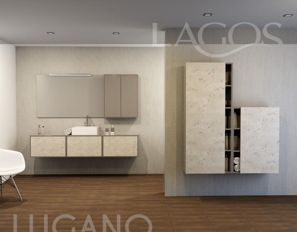 Muebles de baño con diseño propio de la marca Lagos